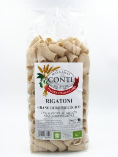 Organic durum wheat rigatoni