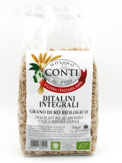Organic wholemeal durum wheat ditalini