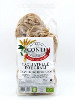 Organic wholemeal durum wheat Tagliatelle